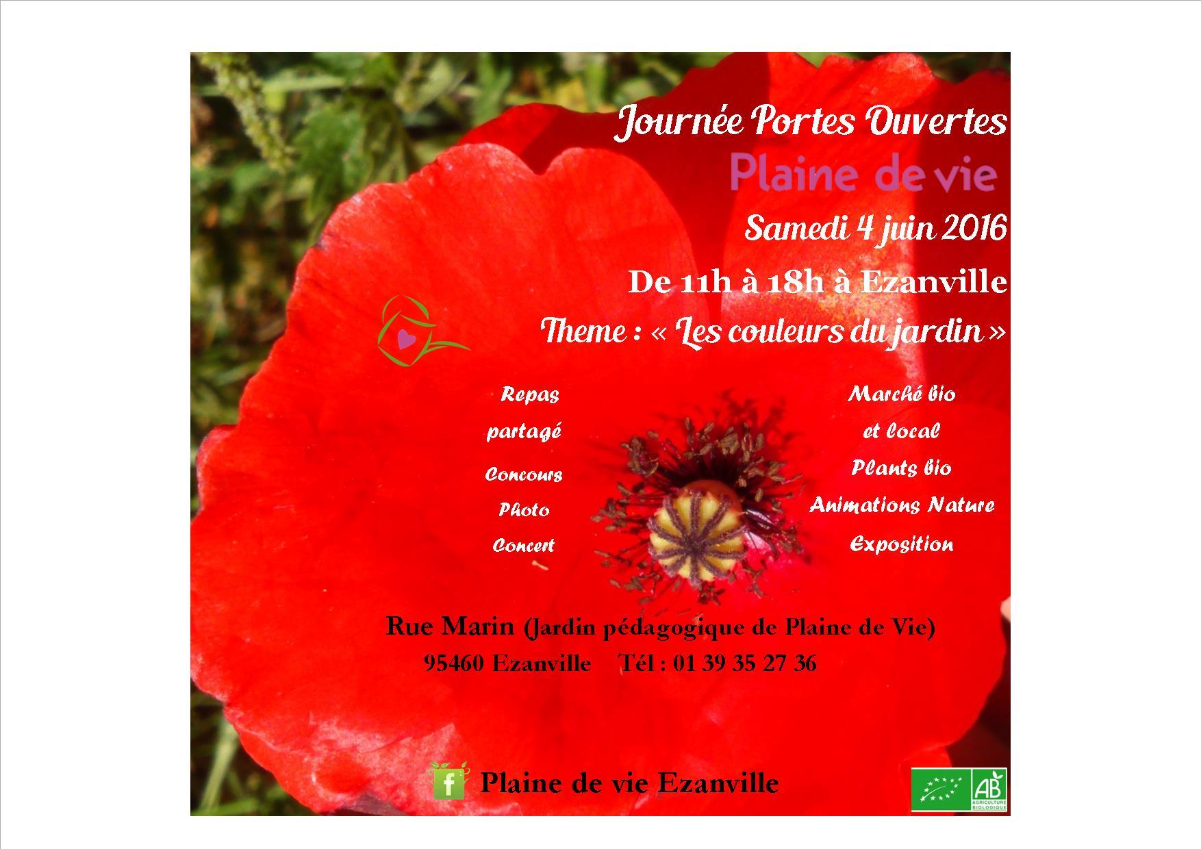 Rendez-vous au jardin : Samedi 4 juin de 11h à 18h à Ezanville