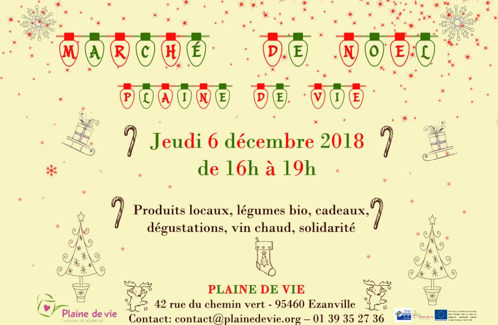 marché de noel 2018 vert et rouge